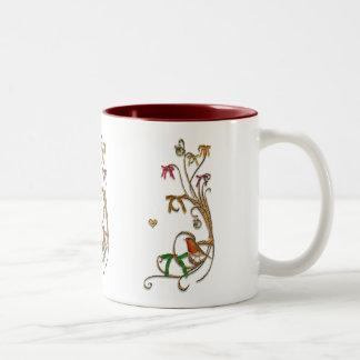 Felices Navidad Taza De Dos Tonos