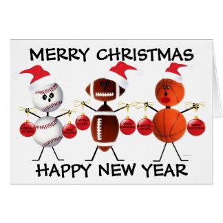 Felices Navidad todos los deportes Tarjeta De Felicitación