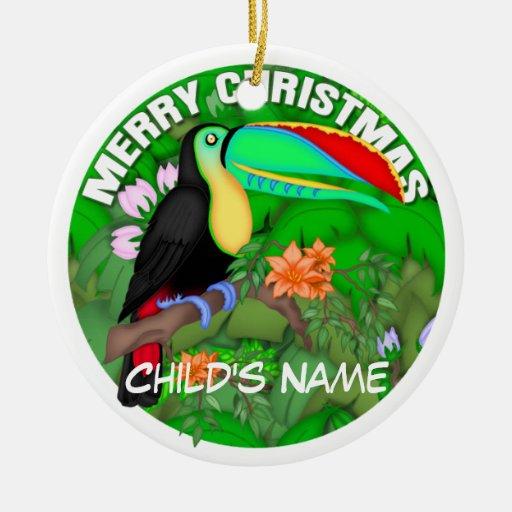 Felices Navidad Toucan Adorno Para Reyes