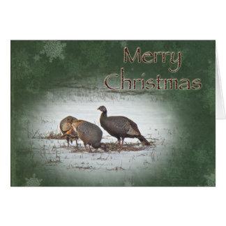 Felices Navidad Turquía salvaje Tarjeta De Felicitación