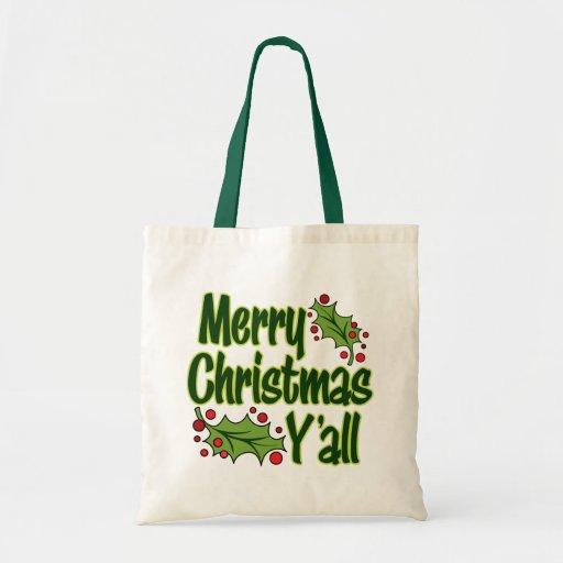 ¡Felices Navidad usted! Bolsa Tela Barata