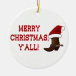 Felices Navidad usted - bota de Santa Ornamento De Reyes Magos