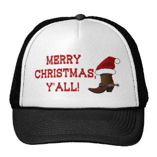 Felices Navidad usted - bota de Santa Gorro De Camionero