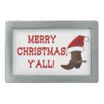 Felices Navidad usted - bota de Santa (parte Hebillas De Cinturon Rectangulares