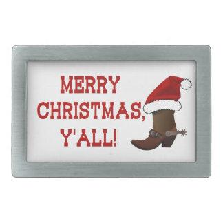 Felices Navidad usted - bota de Santa (parte Hebillas Cinturon Rectangulares