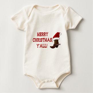 Felices Navidad usted - bota de Santa (parte Mamelucos De Bebé