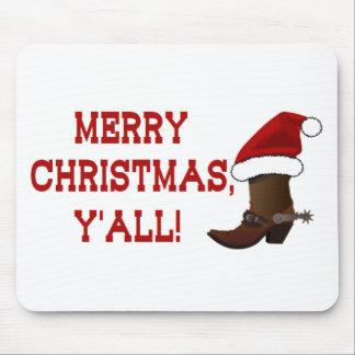 Felices Navidad usted - bota de Santa (parte Mousepad