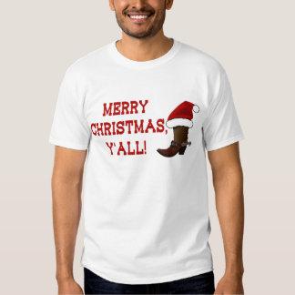 Felices Navidad usted - bota de Santa (parte Polera