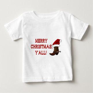 Felices Navidad usted - bota de Santa (parte Poleras