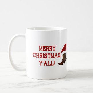 Felices Navidad usted - bota de Santa (parte Taza