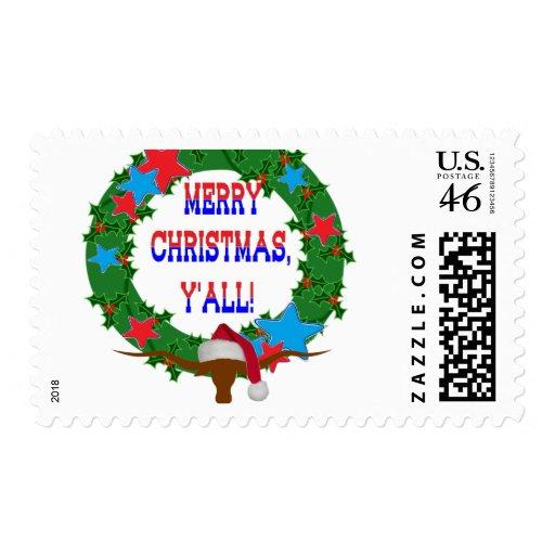 Felices Navidad usted - guirnalda w/Longhorn del a