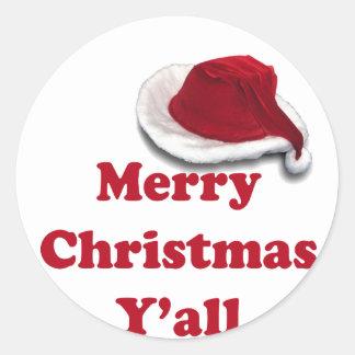 ¡Felices Navidad usted! Pegatina Redonda