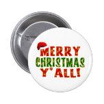 ¡Felices Navidad usted! Pin Redondo 5 Cm