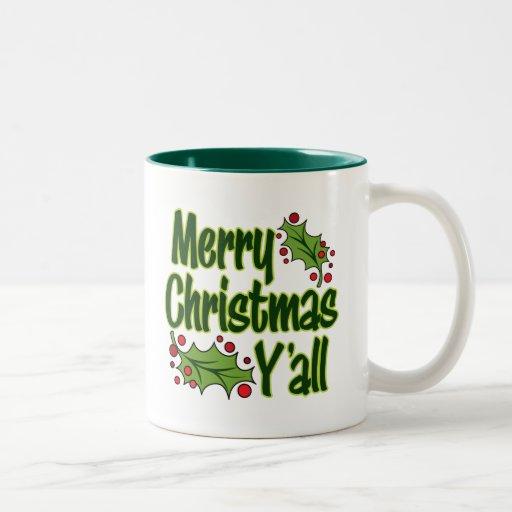 ¡Felices Navidad usted! Taza De Café