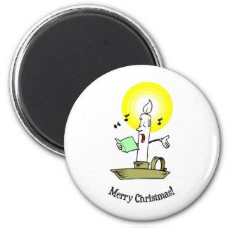 Felices Navidad, vela del canto que hace la luz Iman De Frigorífico