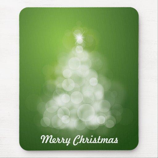 Felices Navidad verdes Mousepad Tapetes De Ratón