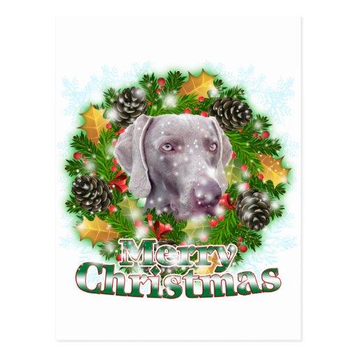 Felices Navidad Weimer Tarjeta Postal