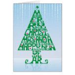 Felices Navidad y árbol de la Feliz Año Nuevo Tarjeton