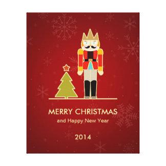 Felices Navidad y Feliz Año Nuevo 2014 del cascanu Impresiones En Lona Estiradas