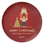 Felices Navidad y Feliz Año Nuevo 2014 del cascanu Platos Para Fiestas