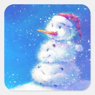 Felices Navidad y Feliz Año Nuevo 2014 Pegatina Cuadrada