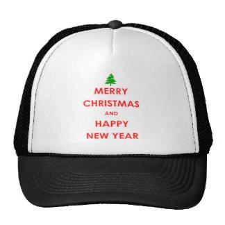 Felices Navidad y Feliz Año Nuevo Gorros Bordados