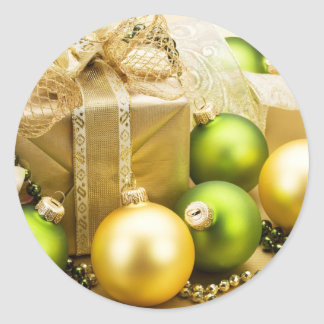 Felices Navidad y Feliz Año Nuevo Pegatina Redonda