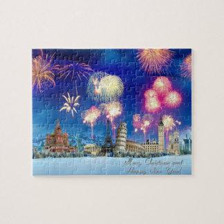 Felices Navidad y Feliz Año Nuevo Puzzle