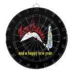 Felices Navidad y Feliz Año Nuevo Tablero Dardos