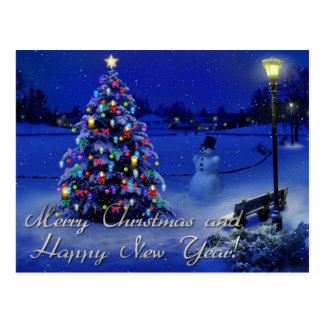 Felices Navidad y Feliz Año Nuevo Tarjeta Postal