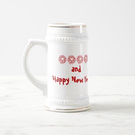 ¡Felices Navidad y Feliz Año Nuevo! Taza De Café