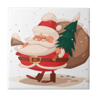 Felices Navidad y newyear feliz Azulejo Cuadrado Pequeño
