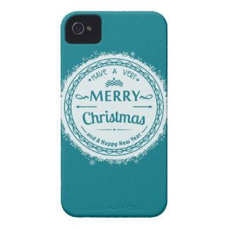 Felices Navidad y newyear feliz Carcasa Para iPhone 4