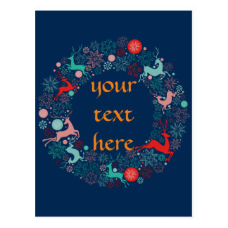 Felices Navidad y newyear feliz Tarjeta Postal