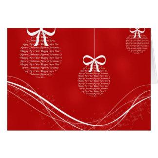 Felices Navidad y ornamentos de la Feliz Año Nuevo Tarjeta De Felicitación