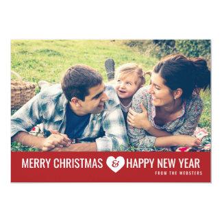 """Felices Navidad y saludo de la foto de la Feliz Invitación 5"""" X 7"""""""