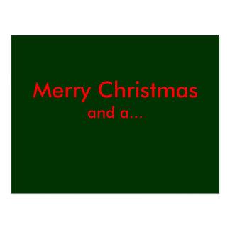Felices Navidad, y… Tarjeta Postal