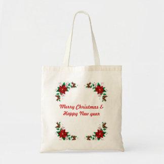 Felices Navidad y tote del presupuesto de la Feliz Bolsas