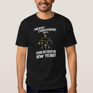 ¡Felices Navidad y un Año Nuevo genealógico! Playera