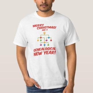 ¡Felices Navidad y un Año Nuevo genealógico! Remeras