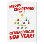 ¡Felices Navidad y un Año Nuevo genealógico! Tarjetón