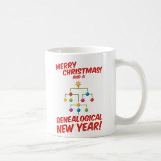 ¡Felices Navidad y un Año Nuevo genealógico! Taza