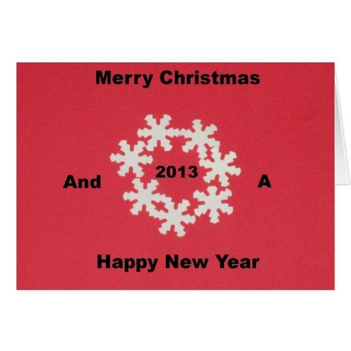 Felices Navidad y una Feliz Año Nuevo 2013 Tarjeta De Felicitación