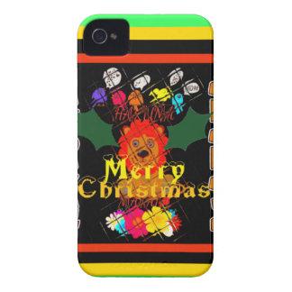 Felices Navidad y una Feliz Año Nuevo Funda Para iPhone 4