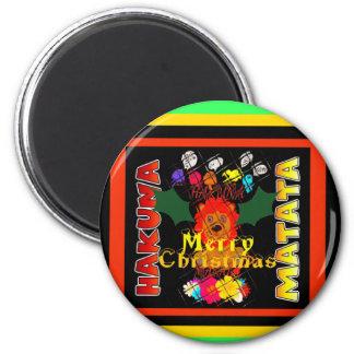 Felices Navidad y una Feliz Año Nuevo Imán Redondo 5 Cm