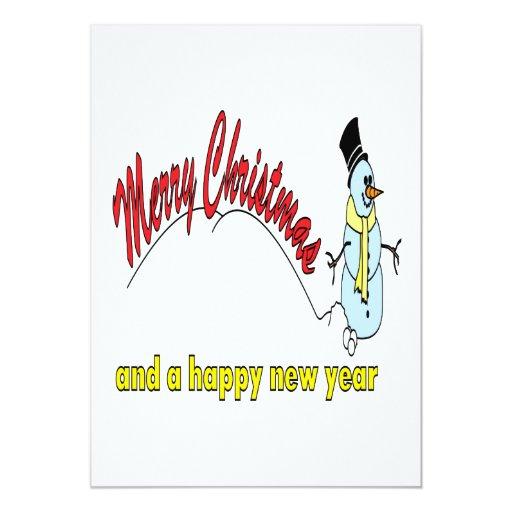 Felices Navidad y una Feliz Año Nuevo Invitación 12,7 X 17,8 Cm