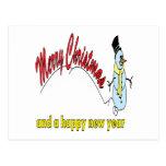 Felices Navidad y una Feliz Año Nuevo Postal