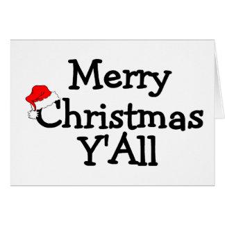 Felices Navidad Yall Tarjeta De Felicitación