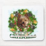 Felices Navidad Yorkie Mousepad