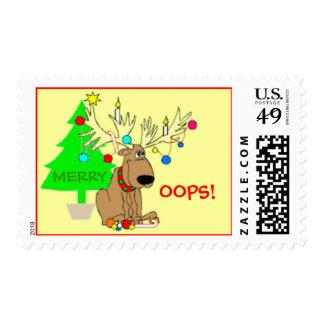 Felices Oops luces divertidas del árbol de navidad